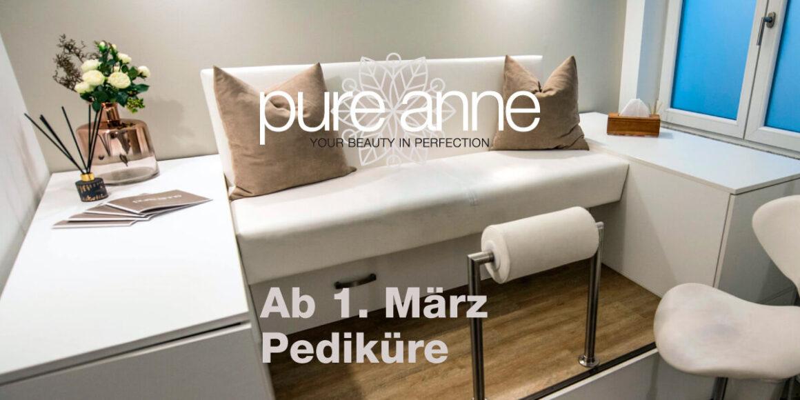 Behandlungsraum Pediküre: Ab dem 1. März 2021 wieder geöffnet