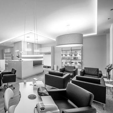 Salon pure anne: Eingangsbereich. Fotografin: Yvonne Kornas